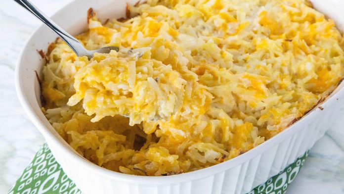 New Year cheesy potatoes the simple way