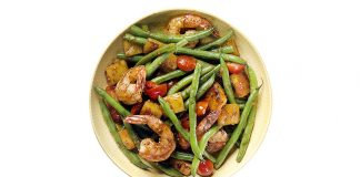 Recipe: Green Bean Salad with Seared Pineapple and Shrimp