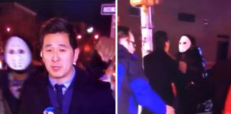 Masked man attacks TV reporter live on air (Video)