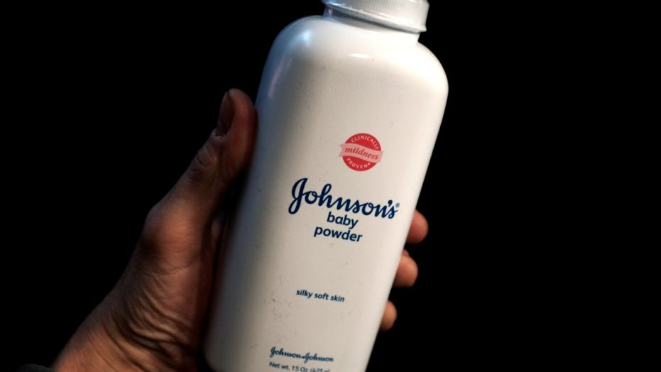 A bottle of Johnson & Johnson Baby Powder is seen in a photo illustration taken in New York, Feb. 24, 2016.