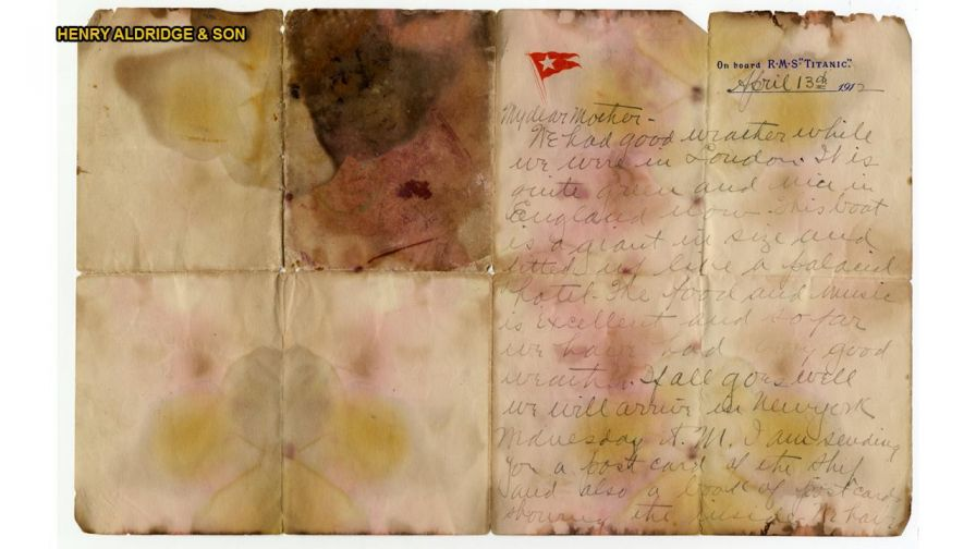 A letter written by Titanic victim Alexander Oskar Holverson has been recovered and will be auctioned in the U.K. for an expected $79,031 to $105,375.