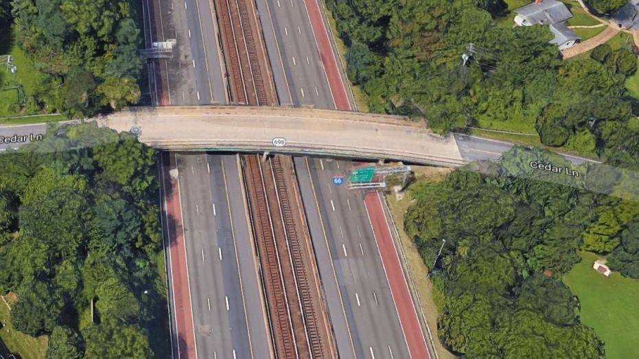Virginia State Police said a woman was killed Saturday after a 12-year-old boy attempting suicide jumped from an overpass on I-66 and landed on her vehicle, killing her.