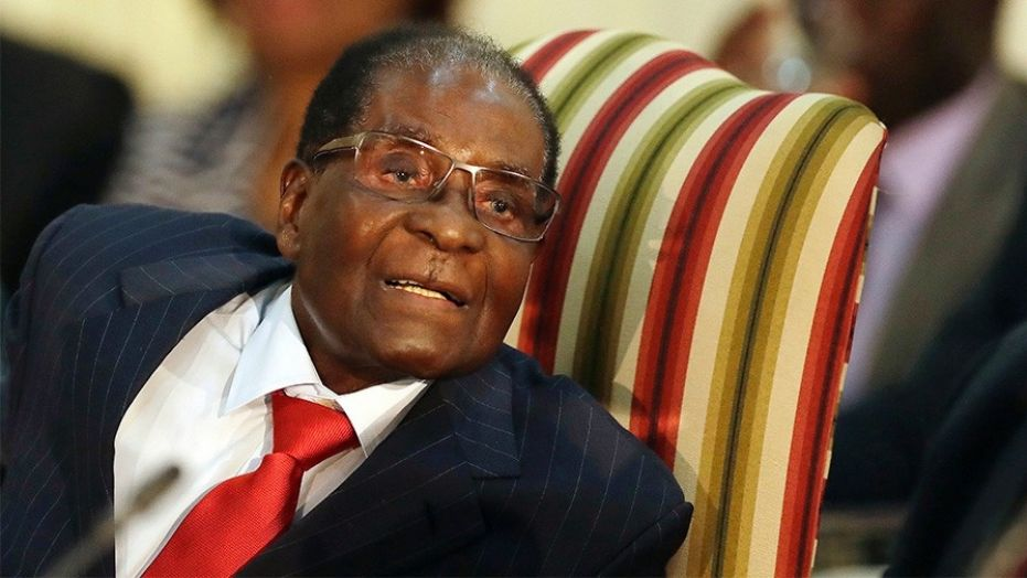 Zimbabwe's President Robert Mugabe, during his meeting with South African President Jacob Zuma, in Pretoria, South Africa. on Oct. 3.