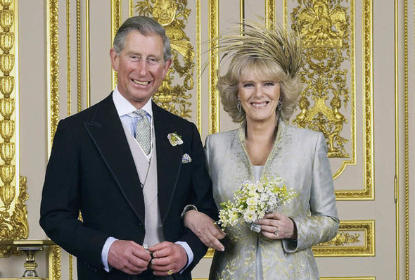 Prince Charles and Camilla on their wedding day
