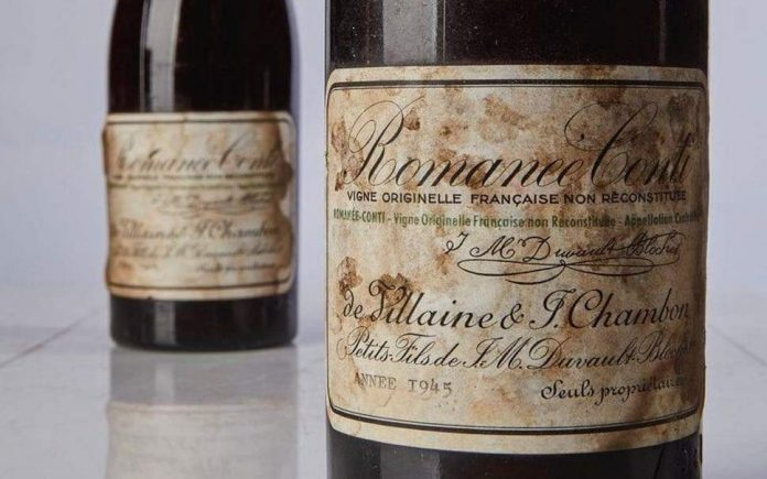 1945 Burgundy Wine sells at auction for record $558,000