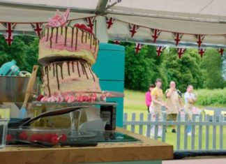 GBBO cake collapses during last night's Bake Off