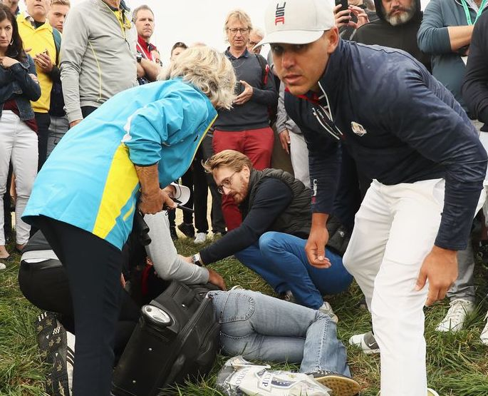 Ryder Cup fan whose eye exploded: