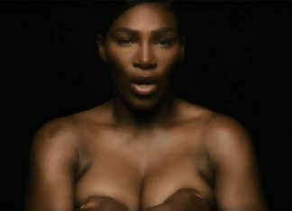 Serena Williams goes topless for breast cancer awareness (Video)
