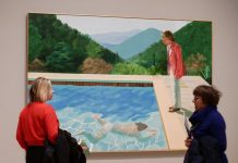 Hockney painting, smashing auction records