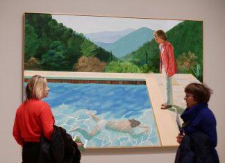 Hockney painting, smashing auction records