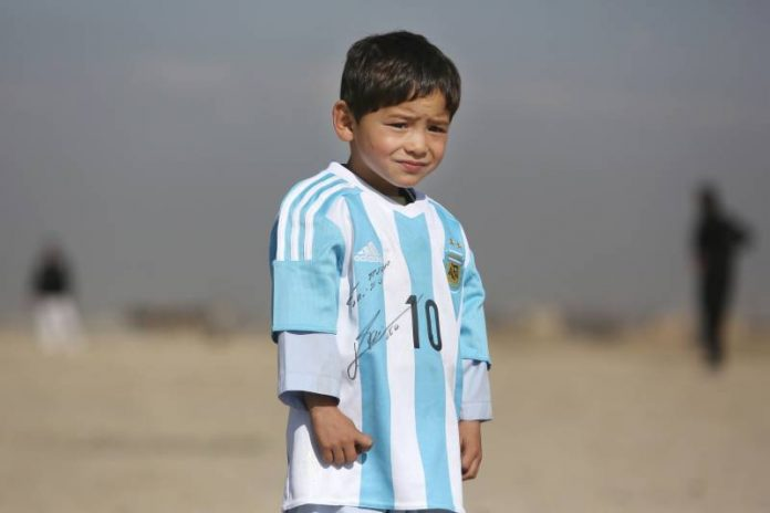 Afghan boy messi Fan, Forced to Flee Home, Report