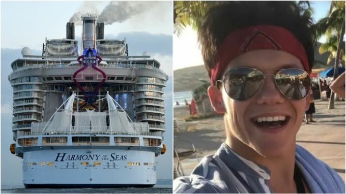 Arron Hough: search suspended for a missing British cruise ship entertainer