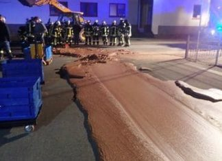 Chocolate factory spill in Germany (Photo)