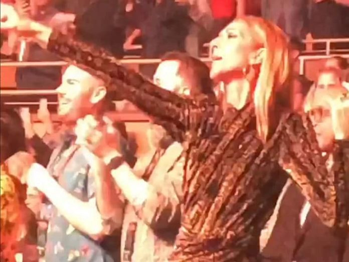 Celine Dion Rocks Out at Lady Gaga's 'Enigma' Show (Video)
