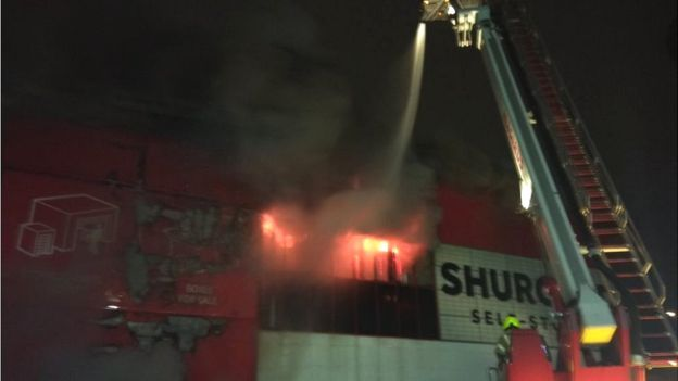 Croydon warehouse fire tackled by firefighters