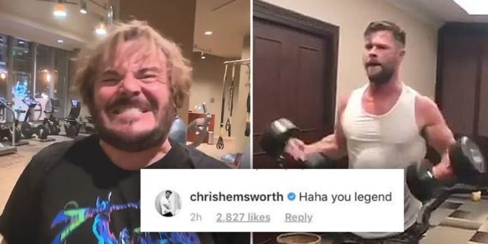 Jack Black Hilariously Tries Chris Hemsworth's Thor Workout (Watch)