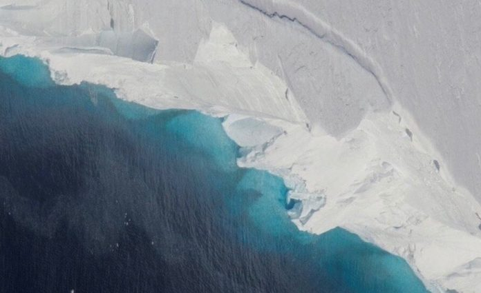 Massive Cavity in Antarctic Glacier Signals Rapid Decay