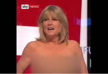 Rachel Johnson strips off on Sky TV during Brexit debate (Watch)