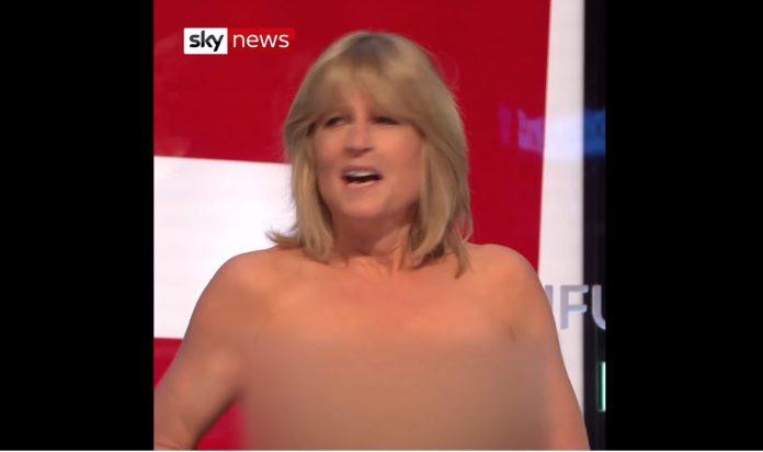 Rachel Johnson strips off on Sky TV during Brexit debate (Watch)