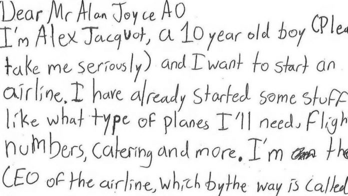 Boy's letter to Qantas boss for 'CEO advice' goes viral, Report