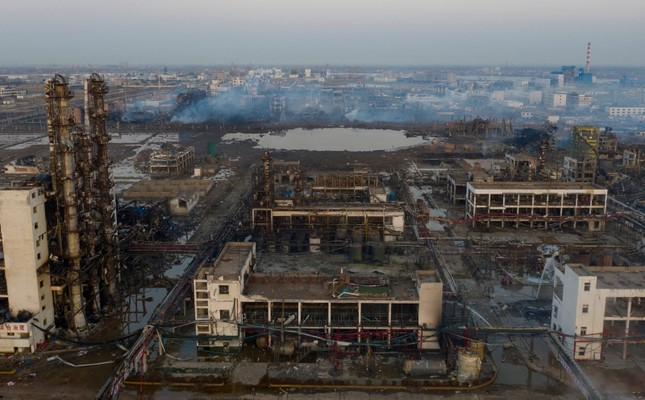 China chemical plant blast kills 64, injures hundreds more