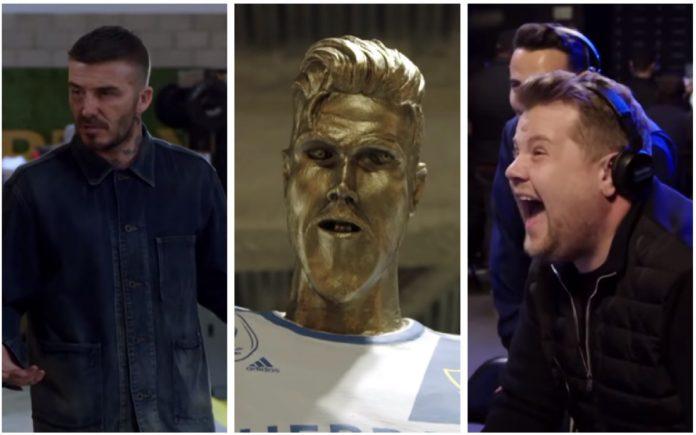 James Corden pulls the ultimate prank on David Beckham (Video)