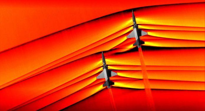 NASA visualizes supersonic shockwaves (Photo)