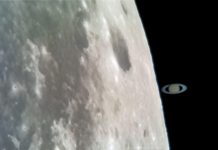 A South African recorded Saturn 'touching' the moon with his smartphone