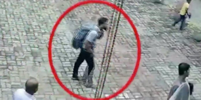 Sri Lanka explosion: HARROWING CCTV footage has captured two suicide bombers