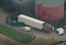 39 Found Dead in Truck in Essex lorry sparking
