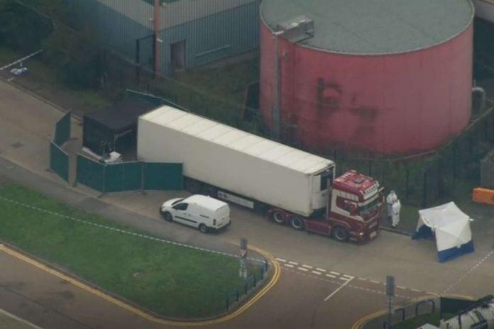 39 Found Dead in Truck in Essex lorry sparking
