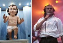 Baby Jesus looks just like Phil Collins? (Photo)
