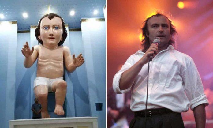 Baby Jesus looks just like Phil Collins? (Photo)