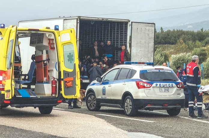 Greece: Police discover 41 migrants in refrigerated truck