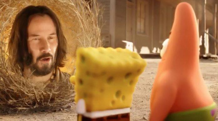 Keanu Reeves makes a bizarre cameo in new 'SpongeBob Movie', Watch