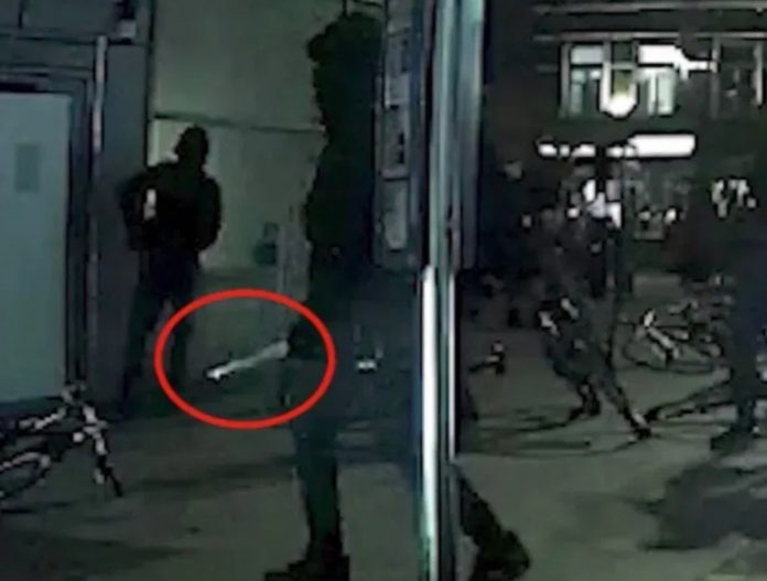 CCTV shows 'postcode rivalry' murder gang brandishing sword (Picture)