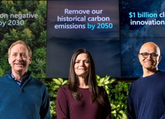 Microsoft pledges to be 'carbon negative' by 2030, Report