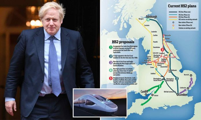 Boris Johnson to give HS2 the go-ahead, Report
