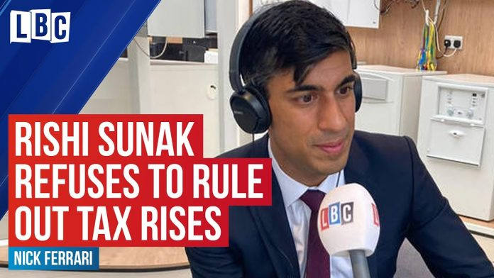 Rishi Sunak refuses to rule out tax rises to pay for COVID-19 spending