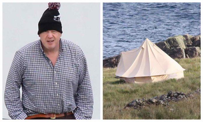Boris Johnson enjoys remote glamping holiday in Scotland (Photo)