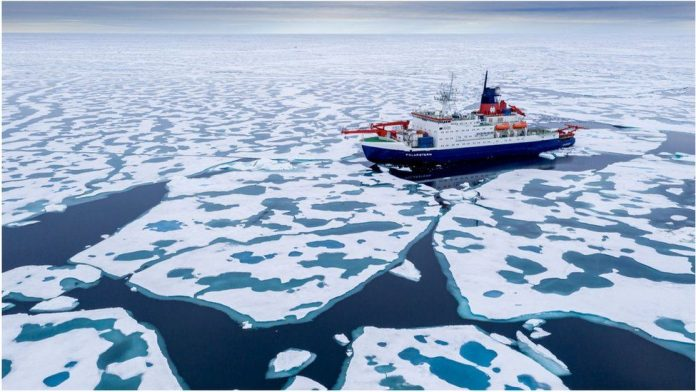 Arctic sea-ice shrinks to near record low extent (Study)