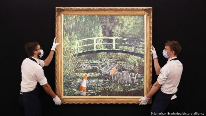 Banksy's Show me the Monet painting sells for £7.5m at auction, Report