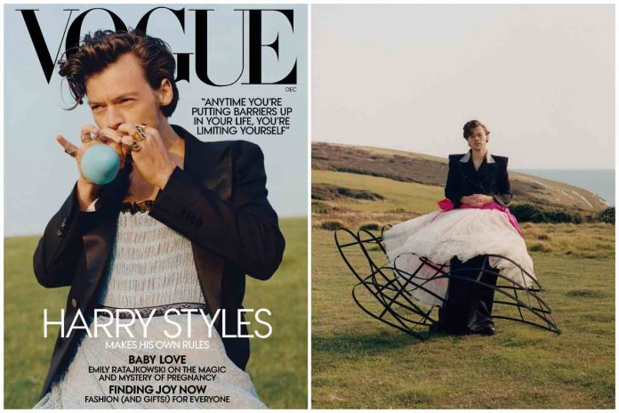 Harry Styles Wore A Gucci Dress On Vogue December Cover (Watch)