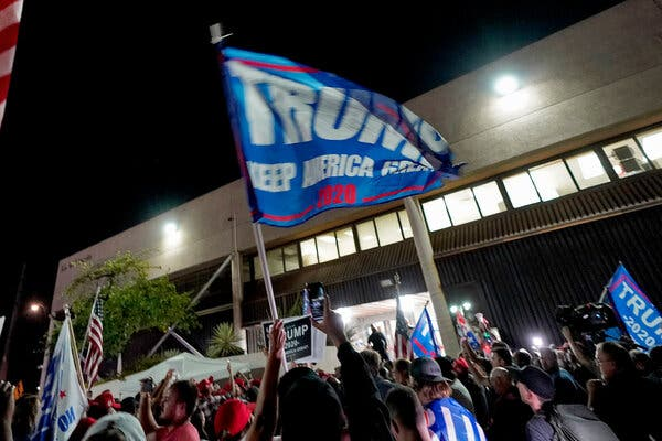 US Election Results 2020 LIVE: Rival supporters clash in Arizona