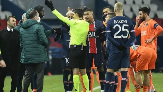 Champions League: PSG v Istanbul Basaksehir suspended after fourth official accused of racism