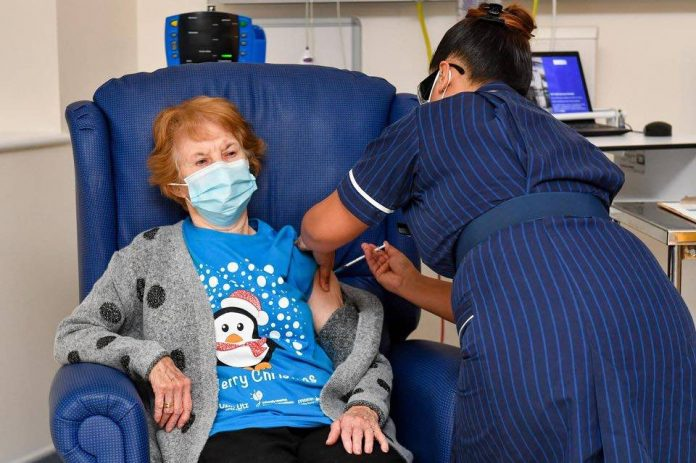 Coronavirus UK Updates: Margaret Keenan,90, becomes first person in the world to receive Pfizer vaccine