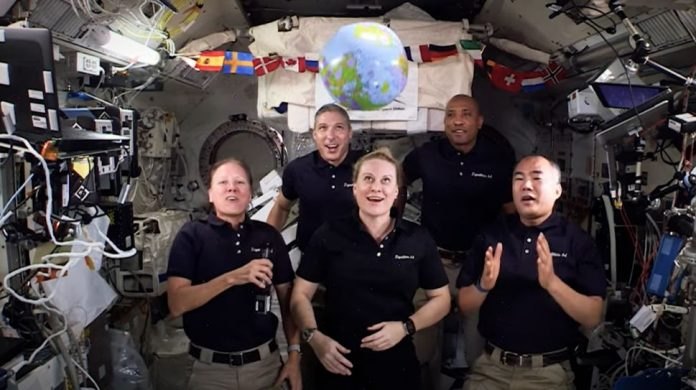 Astronauts aboard ISS recreate Times Square ball drop tradition with a twist (Video)