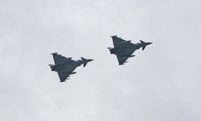 RAF home-schooling lesson after Typhoon intercepts plane, Watch