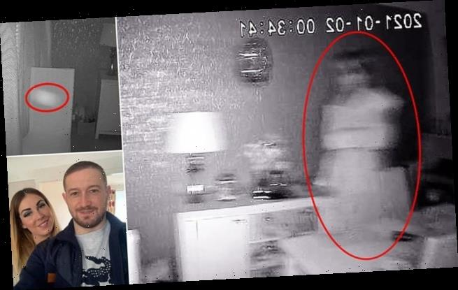 Couple stunned after catching blond 'GHOST BRIDE' on CCTV (Photo)