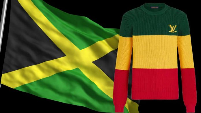 Louis Vuitton 'Jamaica jumper' features wrong flag colours